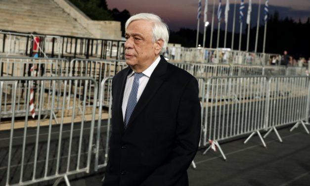 Αντιεκλογική παρέμβαση στο σπίτι του Προκόπη Παυλόπουλου