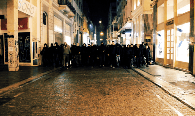 Αντιφασιστική περιπολία στο κέντρο της Αθήνας
