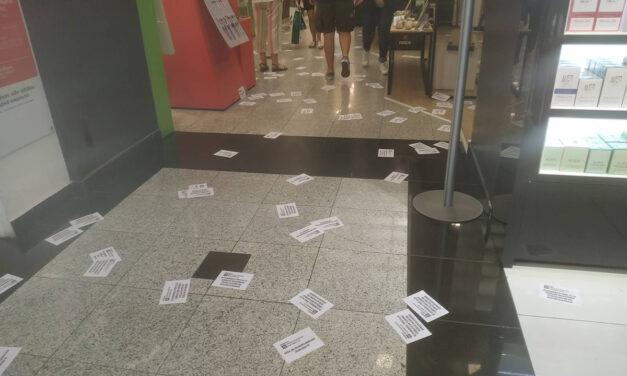 Παρέμβαση στο πολυκατάστημα Notos στην Ομόνοια